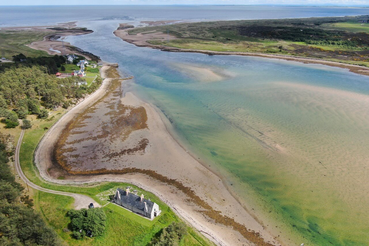 Ariel view of The Old Granary - Dunrobin Holiday Cottages, Caithness